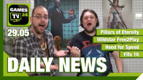 Der Video-Newsüberblick: Pillars of Eternity, Wildstar, Need for Speed, Fifa 16 - Games TV 24 Daily
