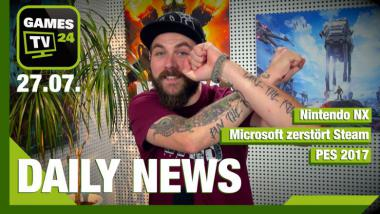 Nintendo NX, PES 2017, Microsoft zerstört Steam - Video-News vom 27. Juli