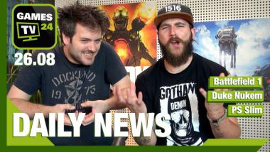 Battlefield 1, Duke Nukem, PS4 Slim - Video-News am 26. August