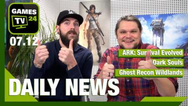 ARK: Survival Evolved, Dark Souls, Ghost Recon Wildlands: Video-News am 7. Dezember