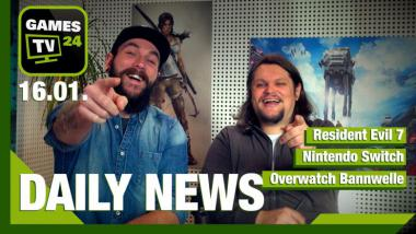 Nintendo Switch, Overwatch Bannwelle, Resident Evil 7: Video-News am 16. Januar