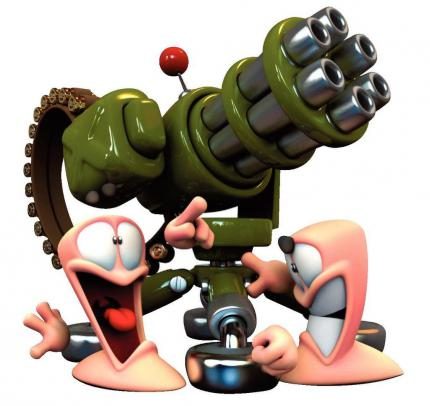 THQ arbeitet an Worms: Open Warfare 2