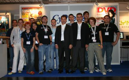 Das CyPress-Team am Pressetag der Games Convention 2006.