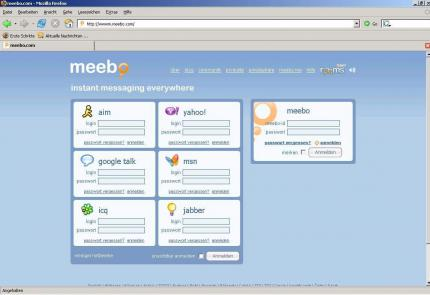 MEEBO.COM - Instant Messanger per Browserfenster