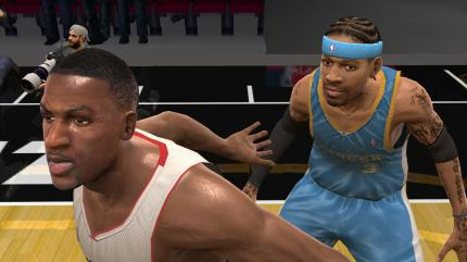 In-Game-Screens zu Sonys NBA 08