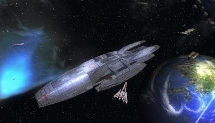 Battlestar Galactica: Video vom Weltraum-Fight