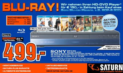 Saturn nimmt HD-DVD-Player in Zahlung!