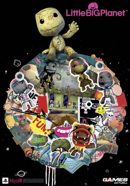 Riesenposter von Little Big Planet in der neuen Games Aktuell