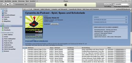 Cynamite-Podcast in iTunes