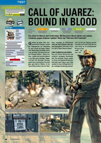 Call of Juarez: Bound in Blood (Test in Games Aktuell 07/09 - jetzt am Kiosk)