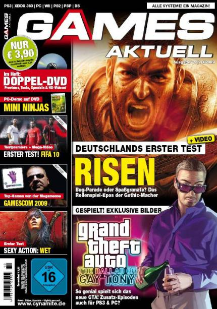 Risen-Test, Gay-Tony-Hands-on u.v.m. in Games Aktuell 10/09