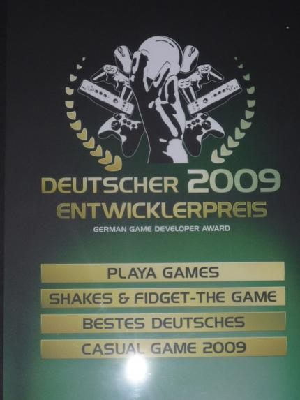 Bestes Casual Game 2009: Shakes & Fidget