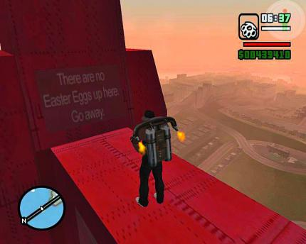 GTA: San Andreas - witzig sind auch Anti-Easter-Eggs wie 'Hier ist kein Easter Egg'.