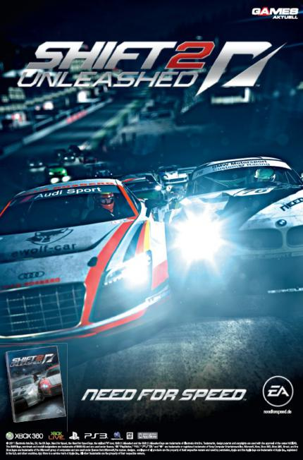 XXL-Wendeposter mit Need for Speed: Shift 2 Unleashed