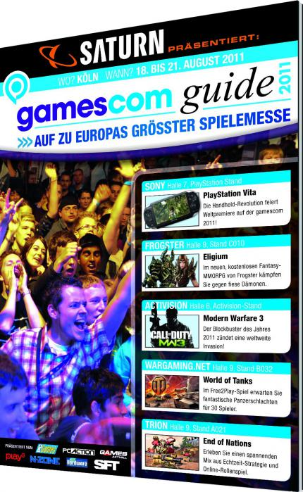 48 Seiten gamescom guide in Games Aktuell 09/2011