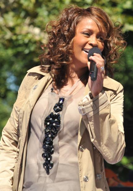 Whitney Houston im September 2009 bei einem Liveauftritt bei Good Morning America (Central Park, New York City)