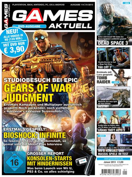 Gears of War Judgment - alles zu unserem Studiobesuch bei Epic in Games Aktuell 01/2013.