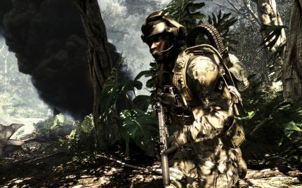 Call of Duty Ghosts simuliert dichten, schwarzen Rauch.