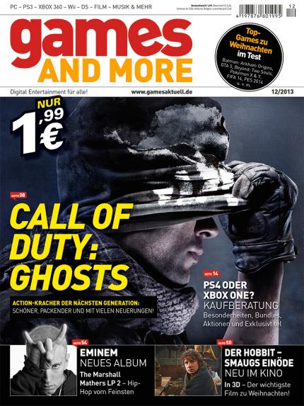 Games and More 12/2013: Call of Duty: Ghosts, PS4 oder Xbox One, Eminems neues Album, Der Hobbit: Smaugs Enöde uvm.