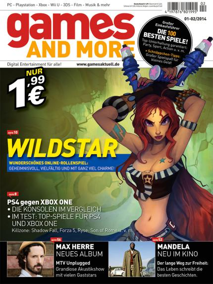 Games and More 01-02/2014: Wildstar, PS4 gegen Xbox One, Max Herres neues Album, Mandela im Kino uvm.