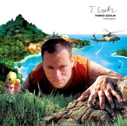 Far Cry: In den Editorials nach dem Relaunch 2006 ließen die Layouter Frank Pfründer, Tina Arnold und Jule Brussig Chefredakteur Thomas regelmäßig mit Spiele-Artworks verschmelzen.