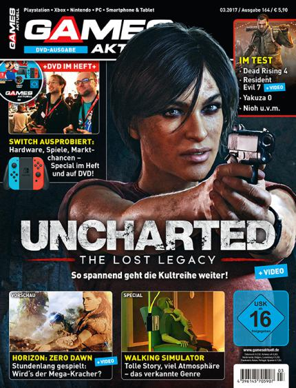 Uncharted: The Lost Legacy - große Titelstory in Games Aktuell 03/2017!