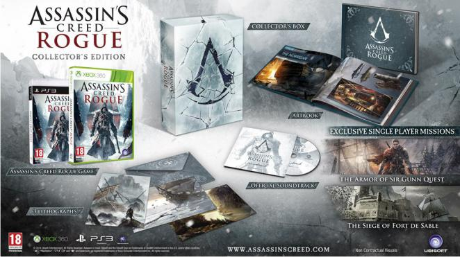 Assassin's Creed: Rogue Collector's Edition enthüllt.