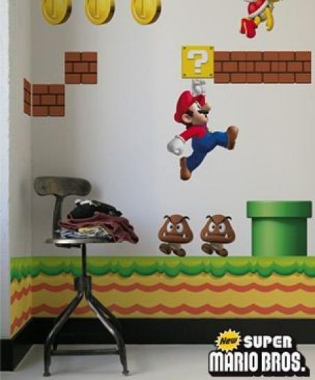 Kurios: Tapeziert euch die Wände im Super-Mario-Look ...