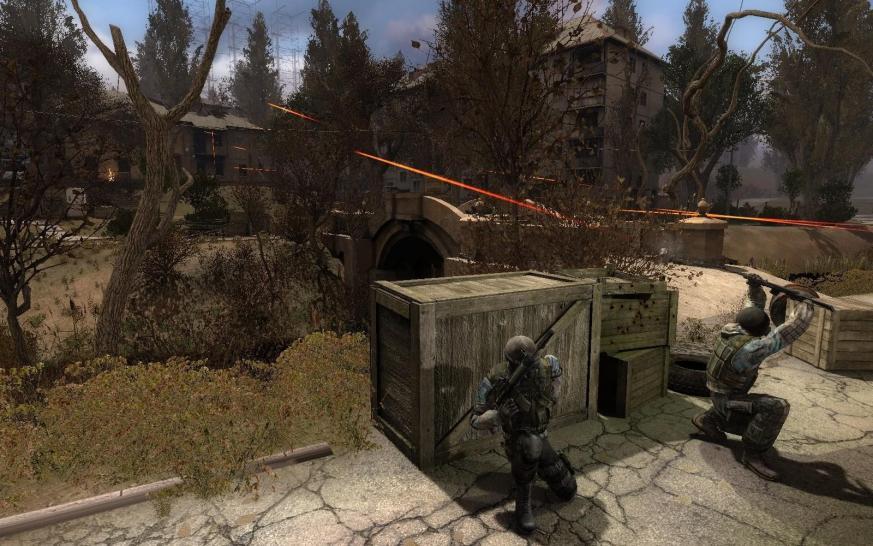 Оборона - Скриншоты Сталкер Чистое Небо - Фотоальбомы Stalker - Фото и карт