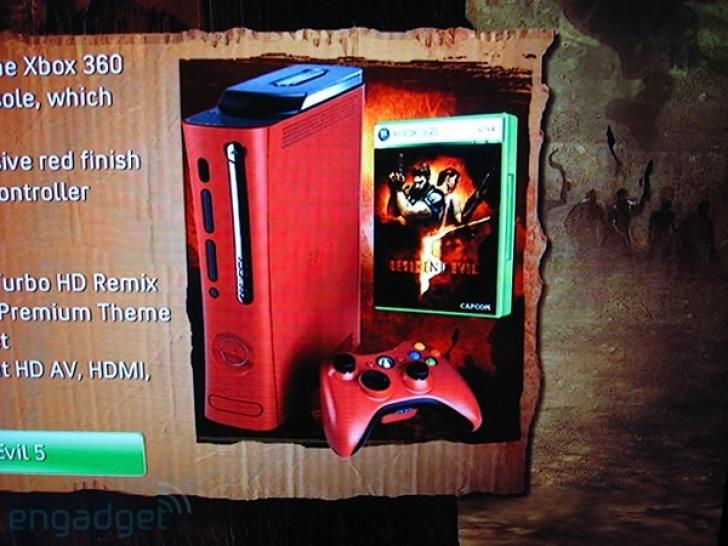 Resident Evil 5 kommt auch mit roter Xbox 360.