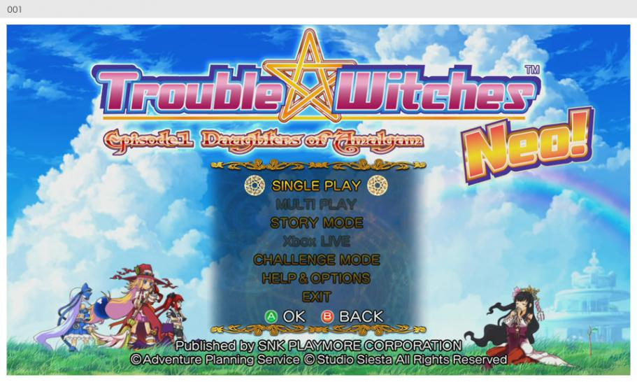 Screenshots zu Trouble Witches Neo! (Xbox Live Arcade). (1)
