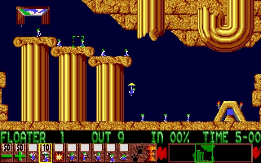 Lemmings, Mario und Space-Invaders. Screenshots aus der Retro-Zeit. (1)