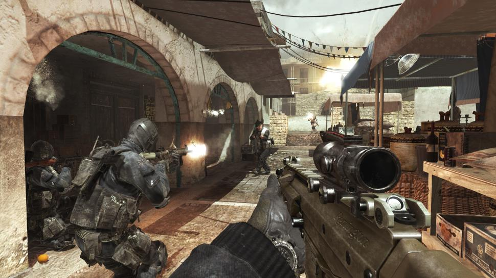 "Mit Call of Duty: Modern Warfare 3 verfolgt Activision die vier Grundprinzipien ""Holy Shit Moments"", ""Ultimate Adrenaline Rush"", ""Easy to Play, Hard to Master"" und ""60 frames per second"". (1)"