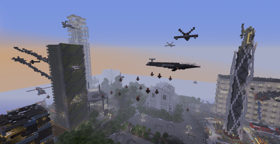 Minecraft bombastische kriegsstadt nun zum download - Minecraft hochhaus ...