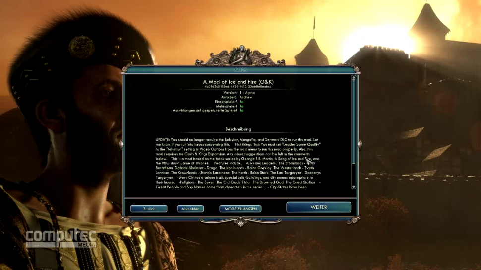 Civilization 5: Wir stellen euch A Mod of Ice and Fire im Video vor. (1)