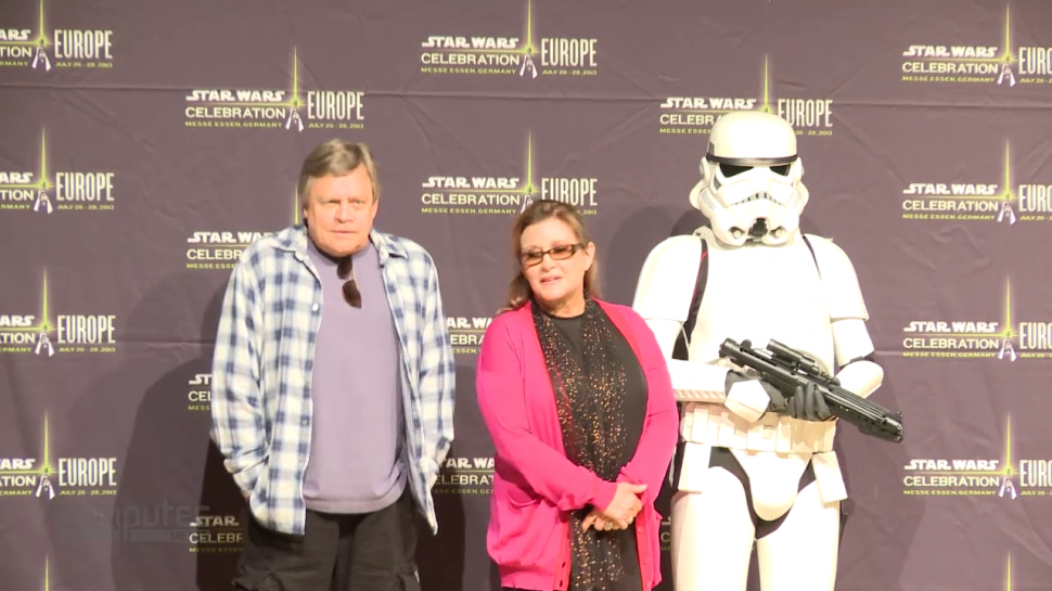 Star Wars Celebration: Mark Hamill, Carrie Fisher (und Stormtrooper Gary).