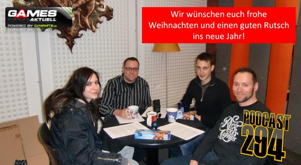 Games Aktuell Podcast 294: Katha, Thomas, Arne, Andy (von links)