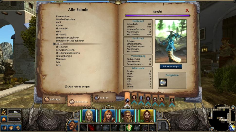 Might & Magic X: Legacy - Komplettlösung: Hauptquests Akt 1Das Bestiarium
