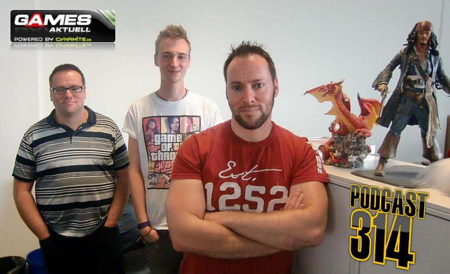 Games Aktuell Podcast 314: Thomas, Valentin und Andy.