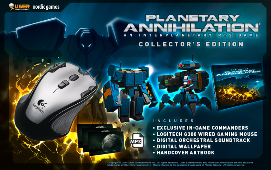 Planetary Annihilation Collector's Edition.