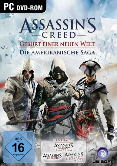 Assassin's Creed 3, Assassin's Creed Liberation HD und Assassin's Creed 4: Black Flag im Komplettpaket. (1)