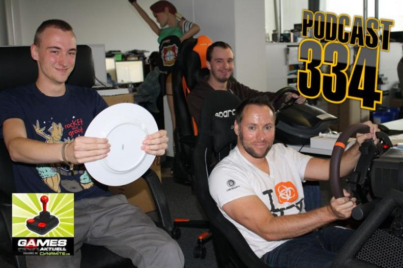Games Aktuell-Podcast 334: Vali, Andy, Peter (von links)
