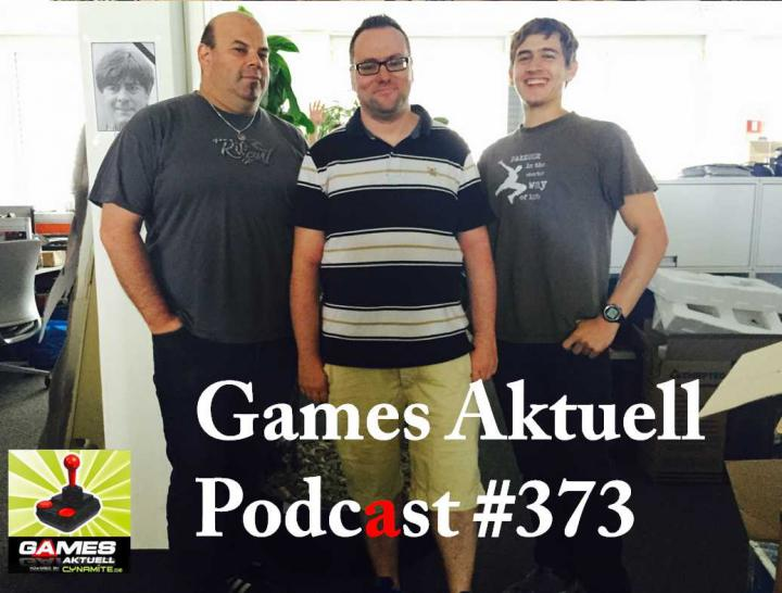 Games Aktuell-Podcast 373: Wolfgang, Thomas, Lukas (von links)