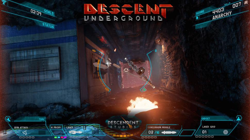 Klassisches Spielgefühl, (noch) magerer Inhalt: Die Early Access-Version von Descent: Underground steht Backern zum Download bereit. (1)
