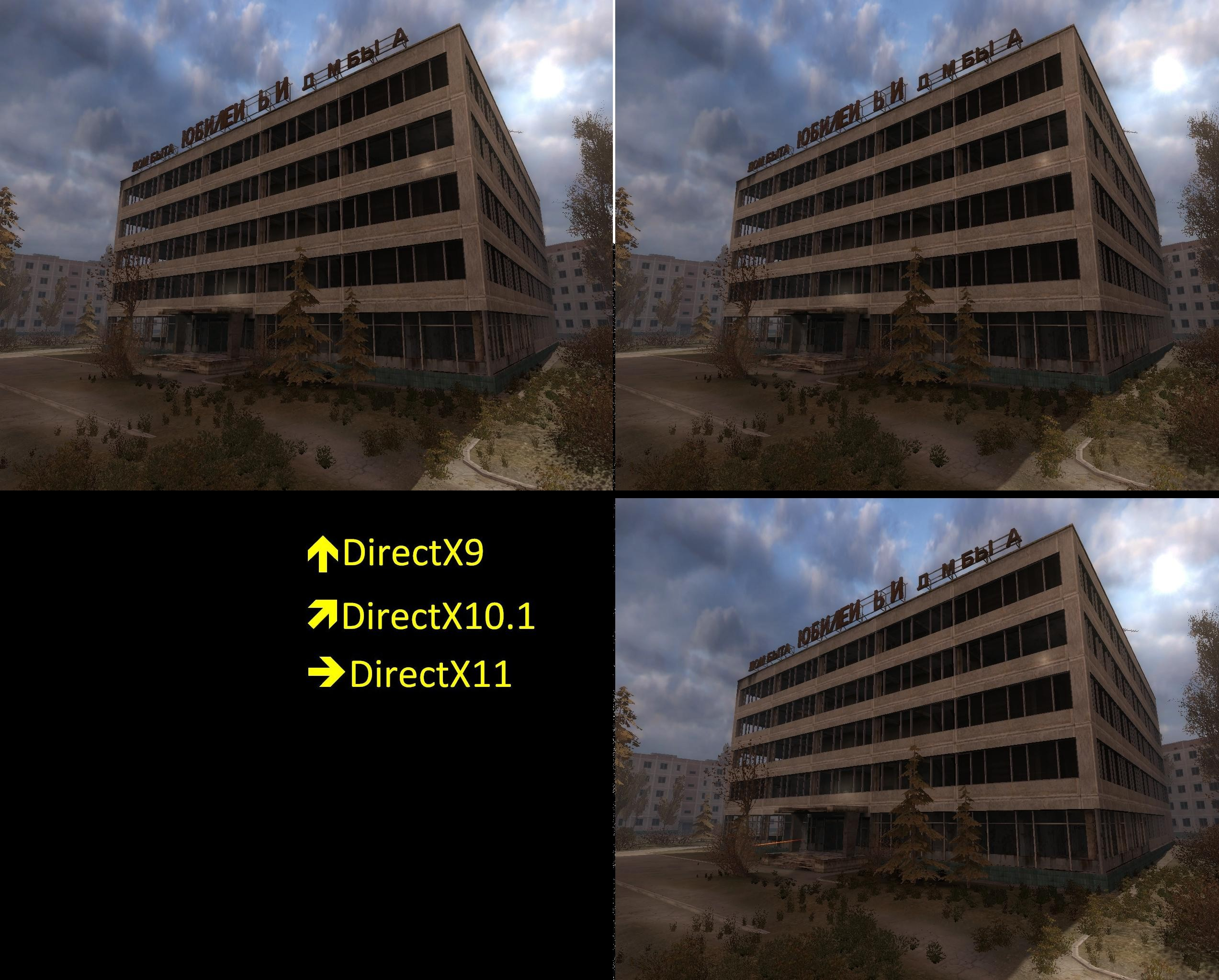 Stalker directx9 vs dx101 dx11 bildergalerie direct x 9 10 11 picture