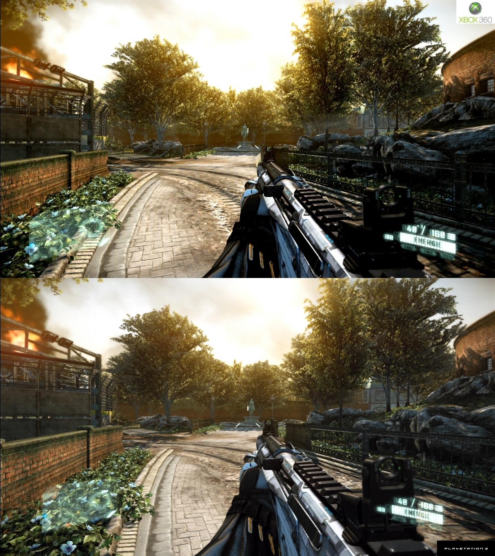 Crysis 3 graphics comparison pc maxed settings vs xbox 360 1080p - Http Www Gamesaktuell De