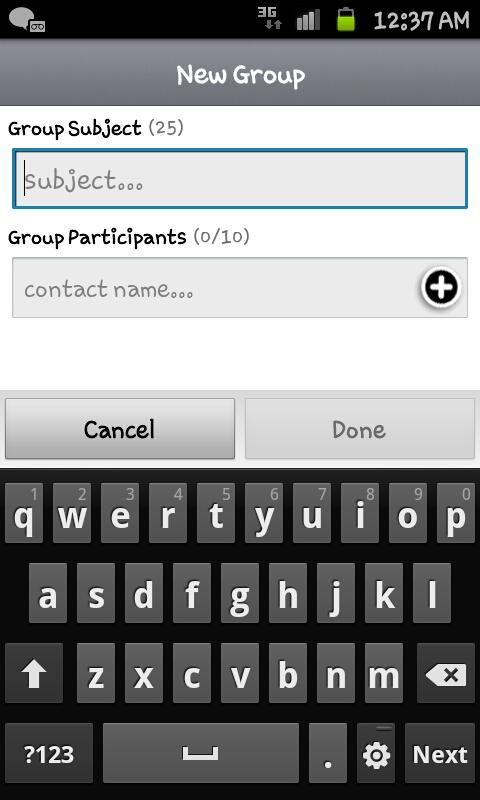 Whatsapp messenger for android tablet.