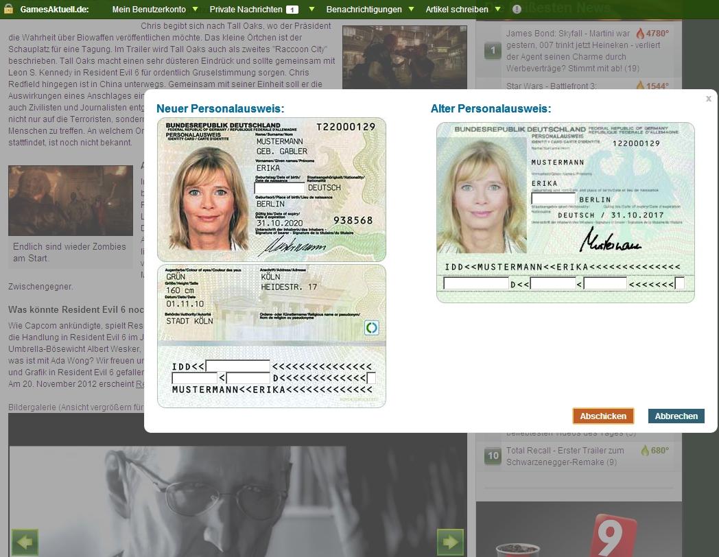 welches ist die personalausweisnummer