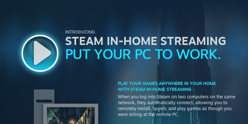 Steam In-Home Streaming ab sofort für alle User verfügbar.