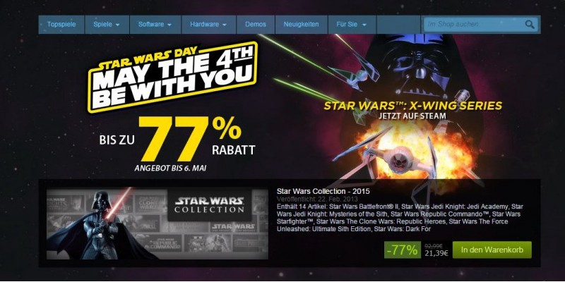 Diverse Star Wars-Titel im Steam-Sale: May the 4th Be With You!